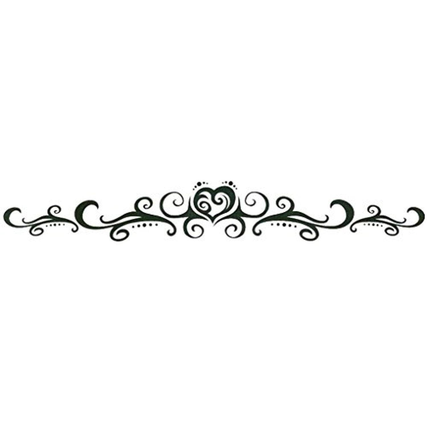 Tattoo ideas for lower back tribal heart lower back or armband temporary body art tattoos