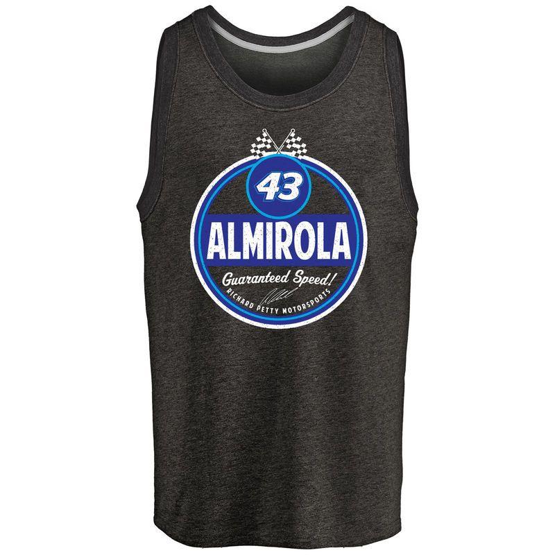 Aric Almirola Route 66 Tri-Blend Tank Top - Black  ea16e2976