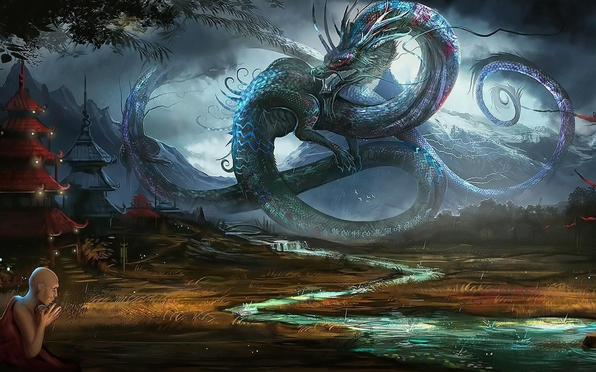 Dragon in ancient China 1920x1200 Fantasy Wallpaper | Cool