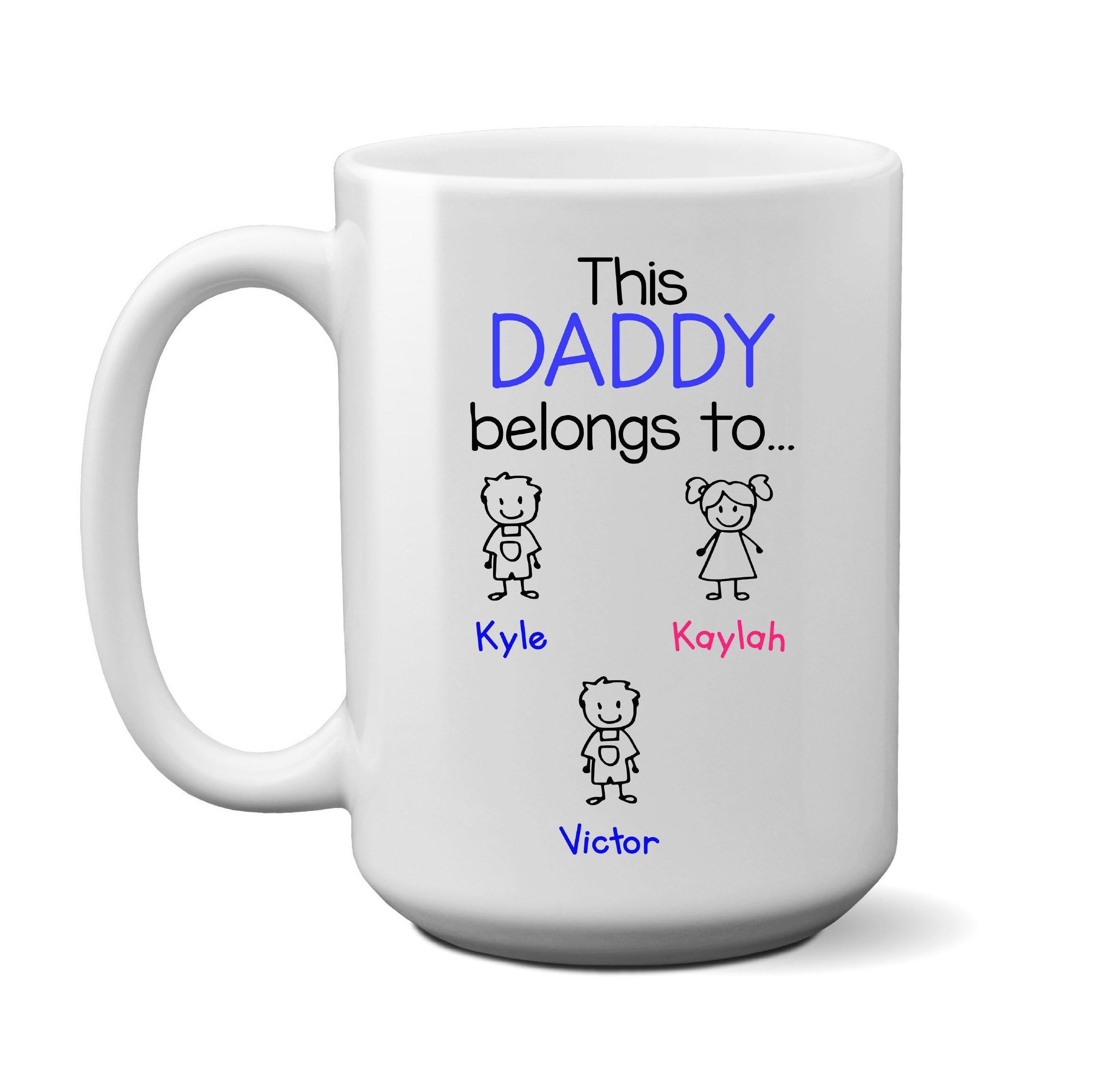 Dad Gift, Daddy Belongs To Custom Name Mug, Personalized