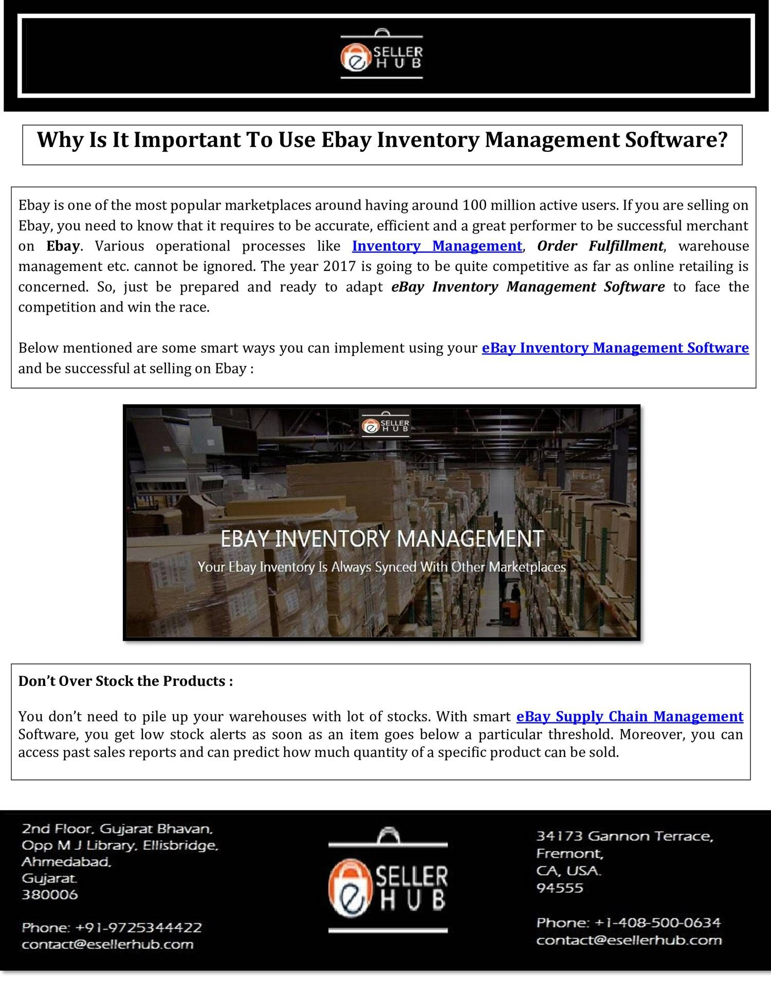 You Don T Need To Pile Up Your Warehouses With Lot Of Stocks With Smart Ebay Supp Inventory Management Software Ebay Inventory Management Inventory Management