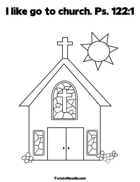I like go to church Ps 122:1 Coloring Page from