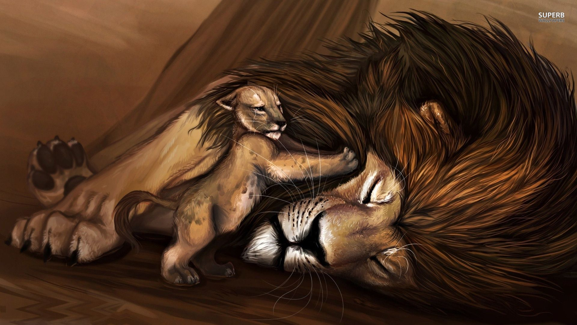 Real Life Painting Of Lion King Mufasa Death