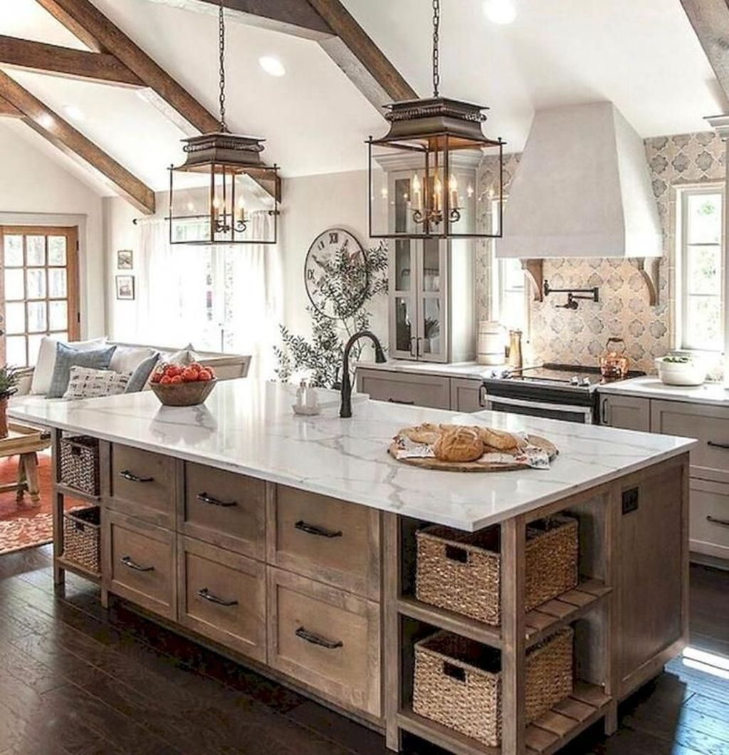 35 The Best Country Farmhouse Kitchen Design Ideas To Modify Your Kitchen Trendehouse Farmhouse Kitchen Design Rustic Farmhouse Kitchen Home Decor Kitchen