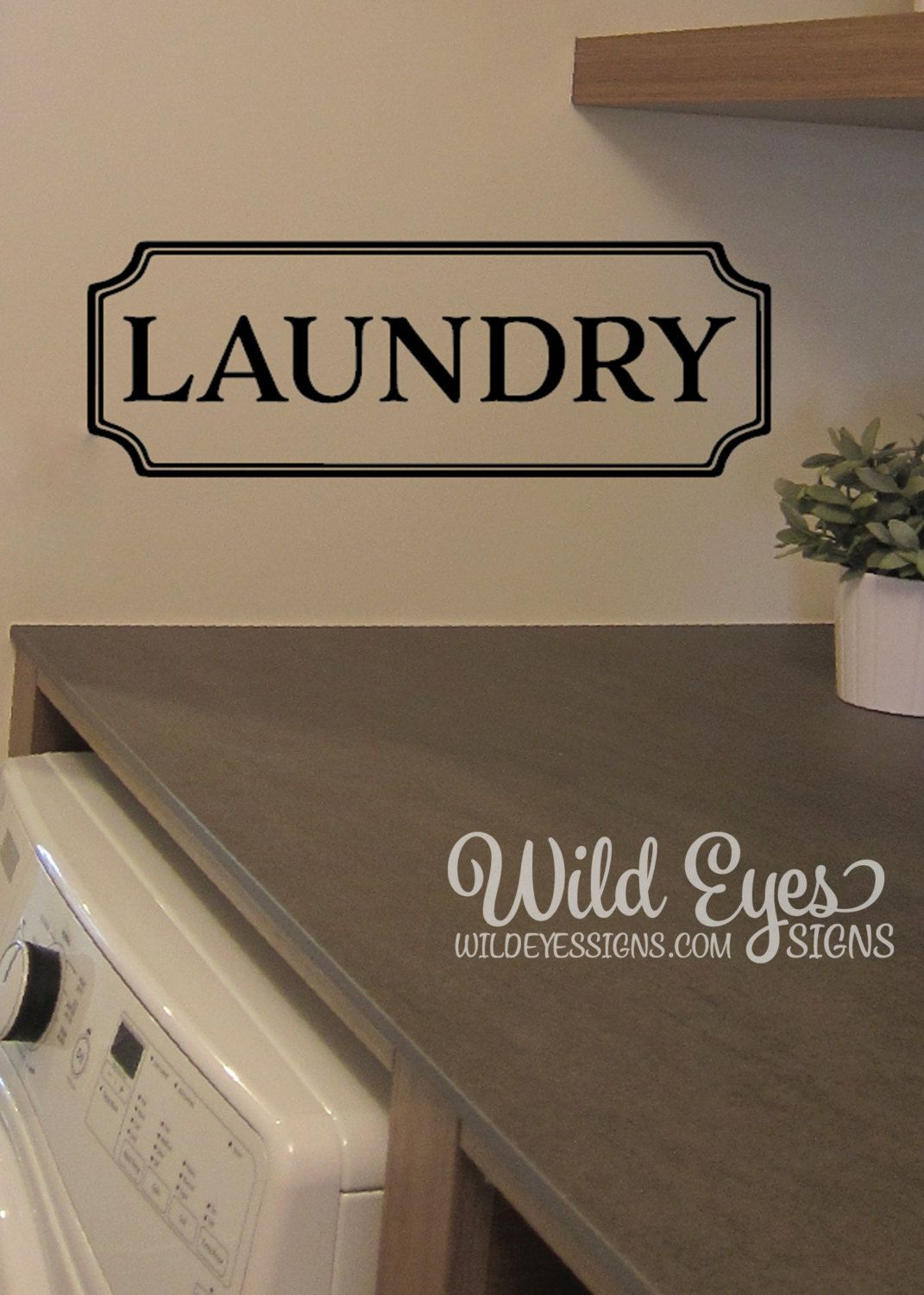 Laundry Vinyl Decal Laundry Room Decal Glass Door Decal Vinyl - Vinyl stickers for glass doors