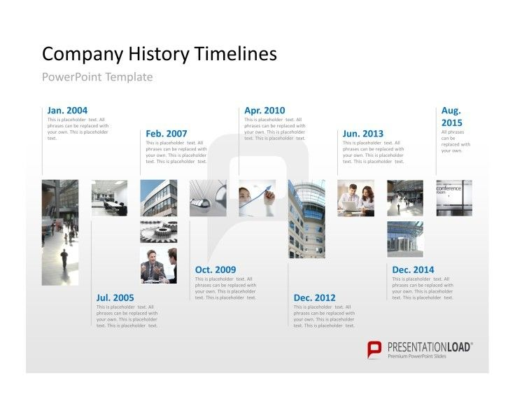 corporate timeline slide design for