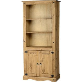 <strong>Home & Haus</strong> Corona 2 Door Display 182.9cm Standard Bookcase