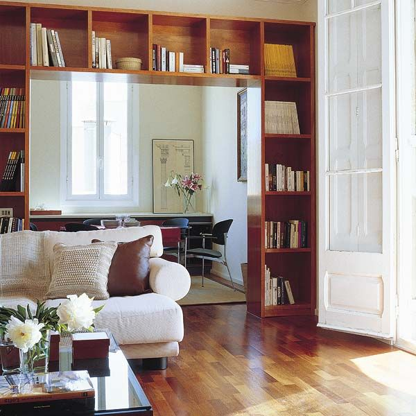 Home Library In A Living Room