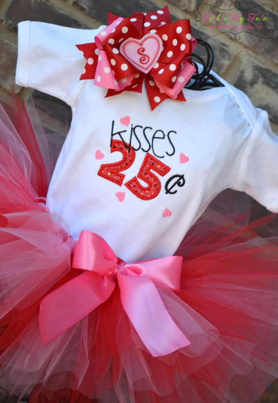 Valentine Kisses Tutu Outfit-Valentine\'s Day Pageant Outfit-My ...
