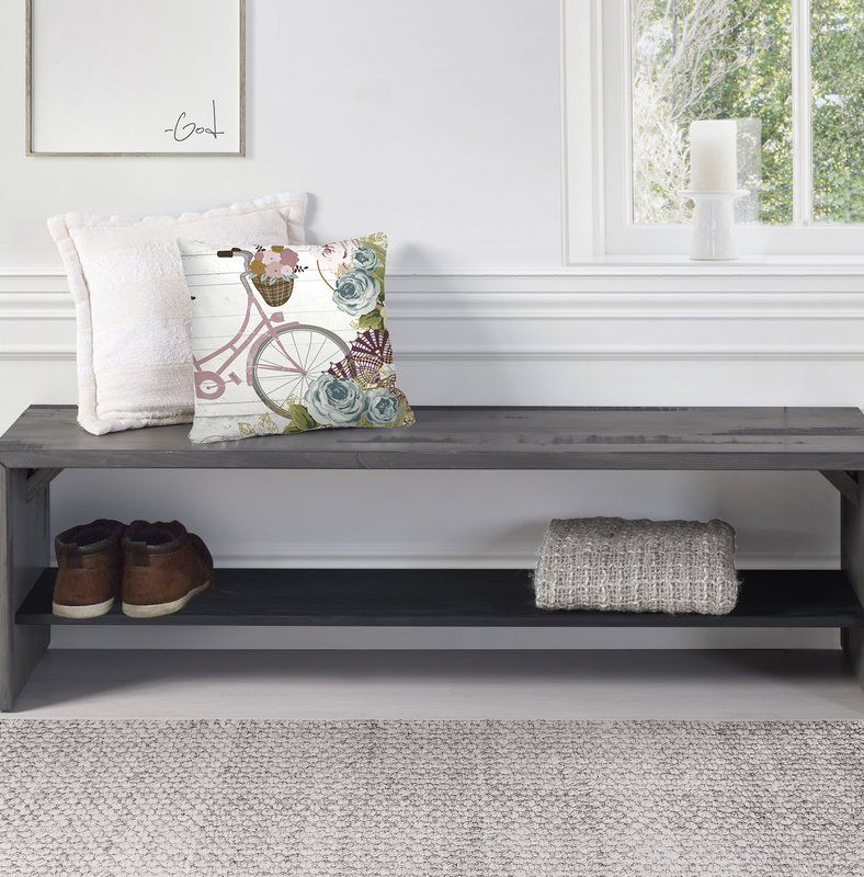 Arocho Wood Storage Bench Storage Bench Living Room Bench Wood Storage Bench