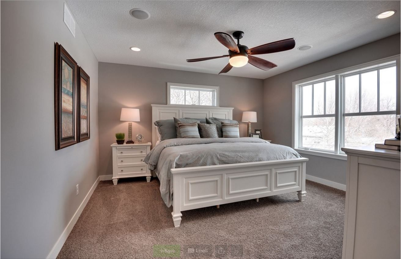 Sw Requisite Gray With Tan Carpet Www Houzz Com Sw Requisite Gray With Tan Carpet Www Hou Small Master Bedroom Bedroom Interior Master Bedrooms Decor