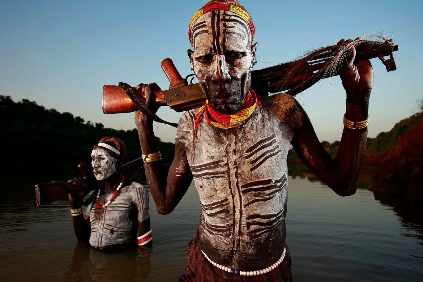 Omo Men in Central Ethiopia