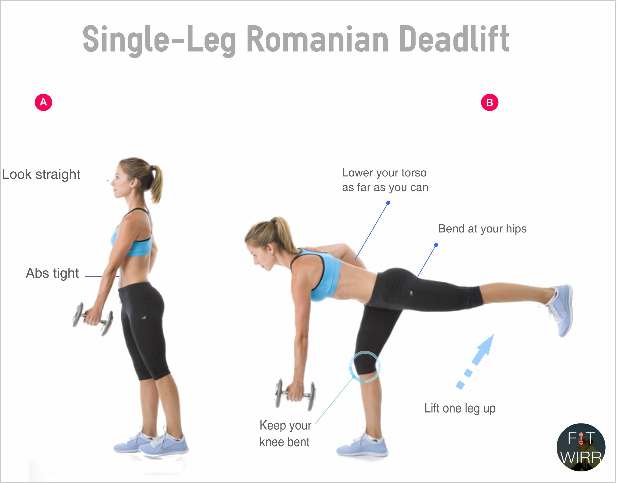rdl form with dumbbells  How to Do A Romanian DeadLift (RDL) on One Leg | Single leg ...