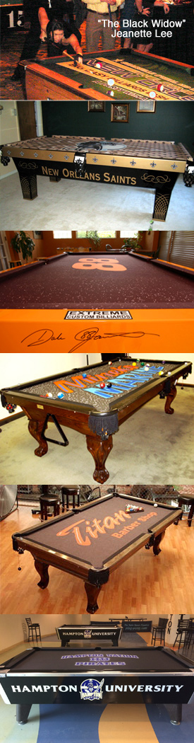 Custom Pool Table Felt   Design Your Billiard Cloth To Look Exactly How You  Want It