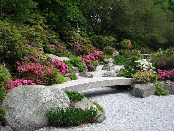 creating a zen garden the main elements of the japanese garden - Japanese Garden Stone Bridge