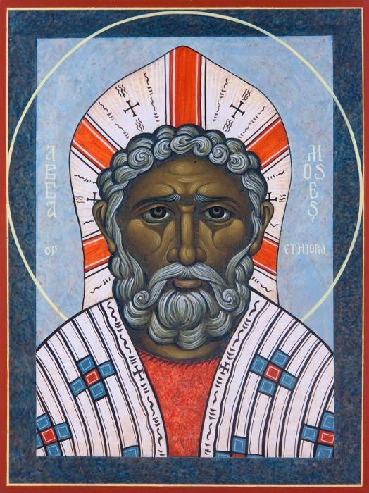 St. Moses the Ethiopian. Icon, Michael Kapeluck