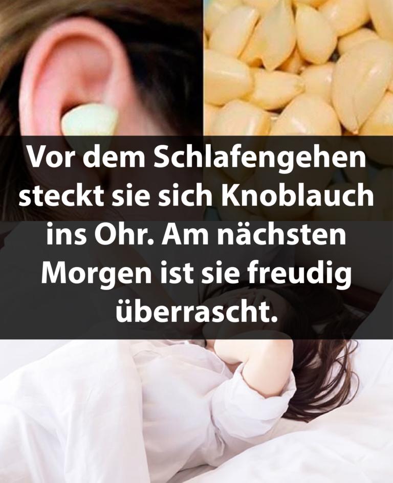 Ohrenschmerzen schlafen