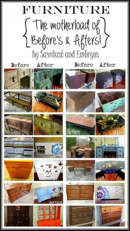 Before And After Picture Gallery | ReUse, RePurpose ... |Repurposed Furniture Before And After