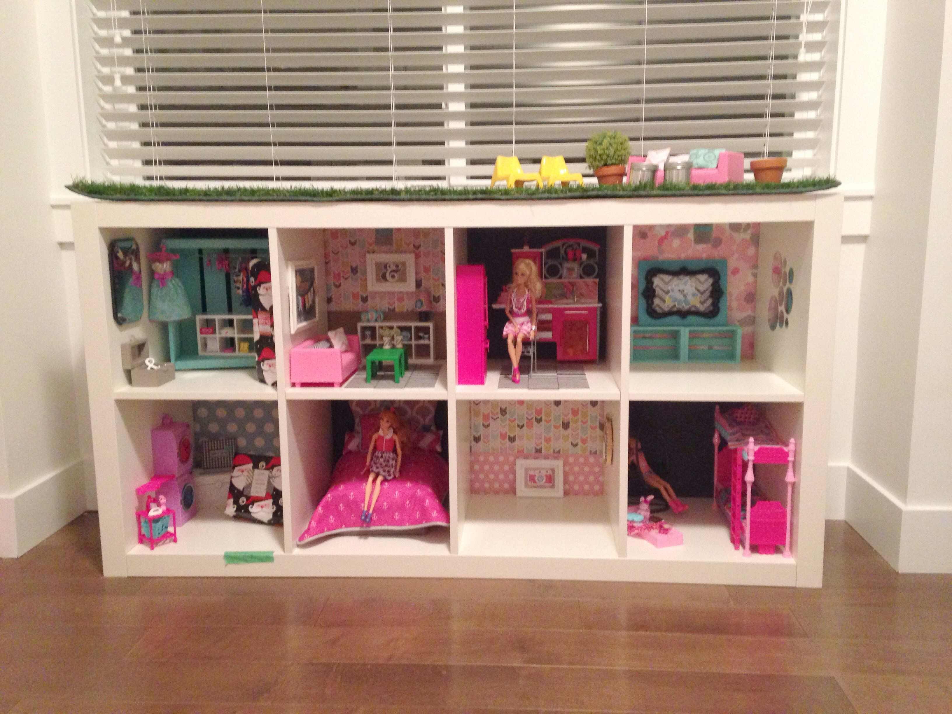 Barbie Doll Storage Ideas Barbie Dreamhouse From Expedit Shelves