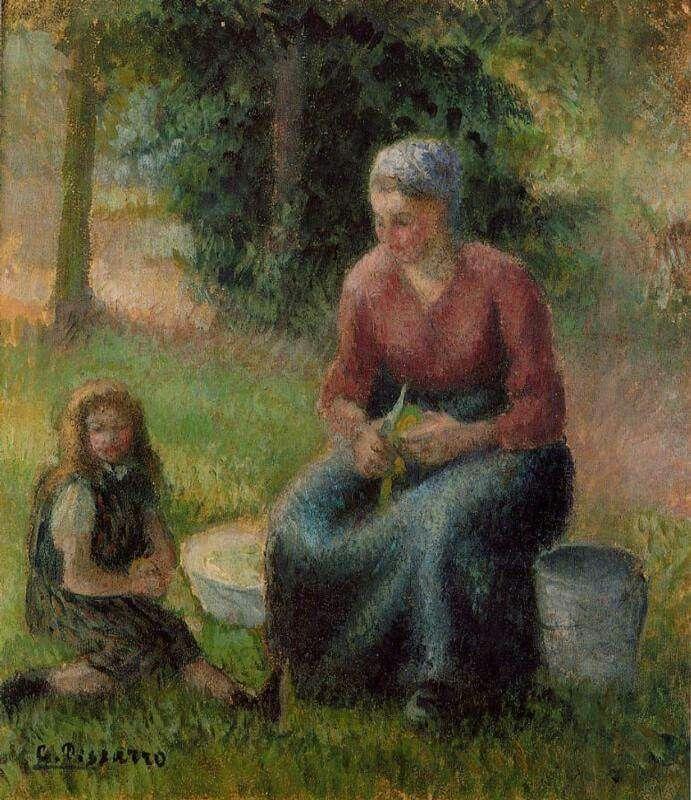 PISSARRO'S PEOPLE  Camille Pissarro (French, 1830-1903)