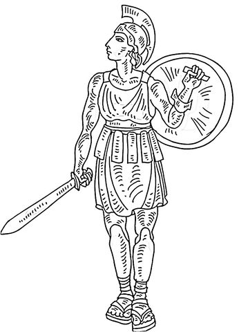 Roman Soldier Coloring Page From Italy Category Select From 21312