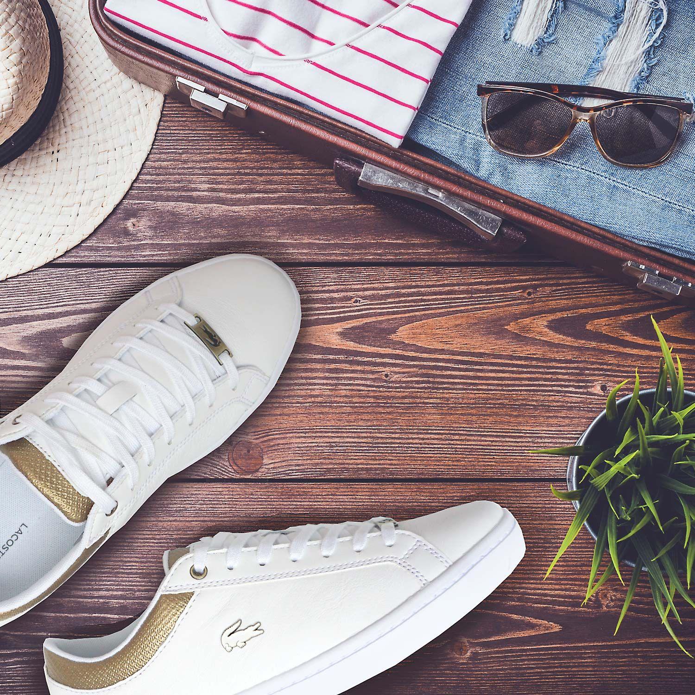 Lacoste Damenschuhe Mädchenschuhe Sneaker Sommerschuhe Turnschuhe Leder Weiss