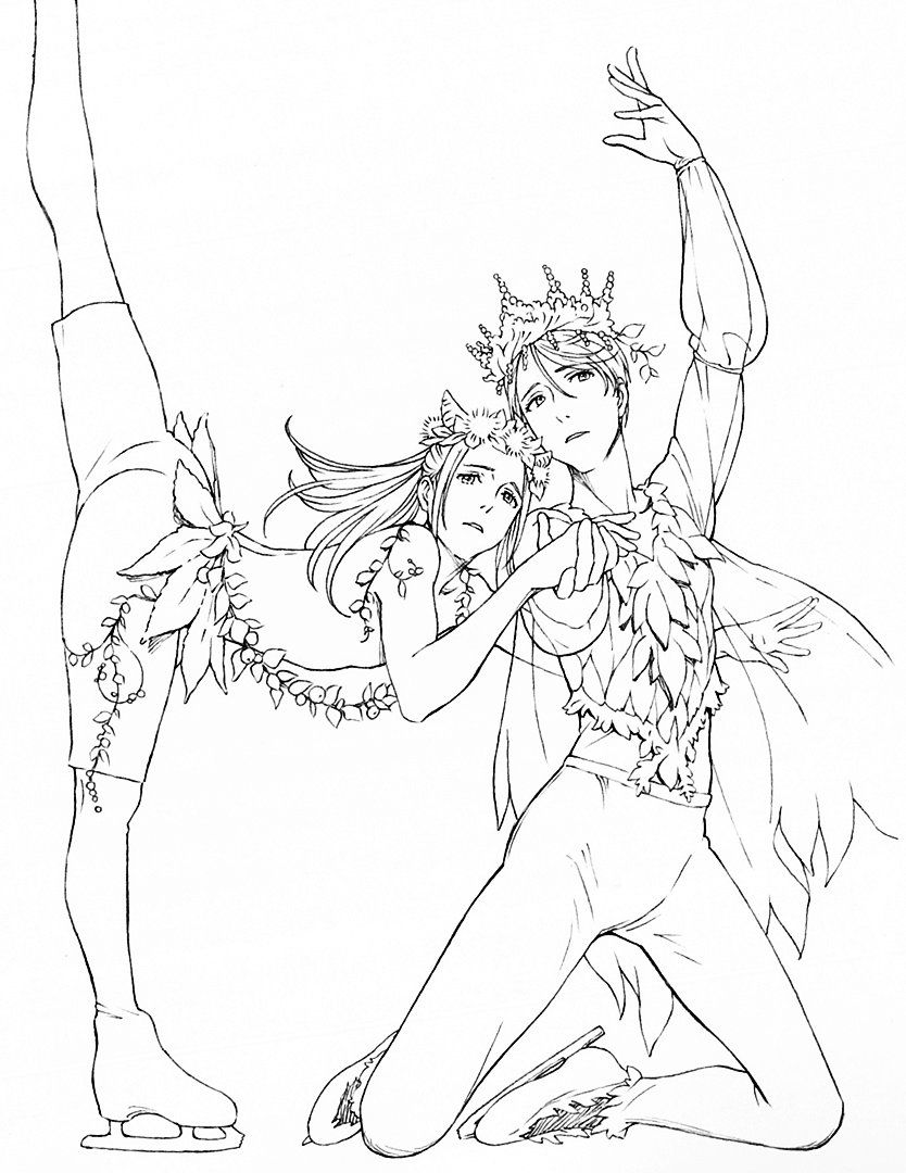 yuri on ice coloring pages ✨⛸ji@魔道祖师☔  没什么好说的 on | yuri on ice yuri on ice coloring pages