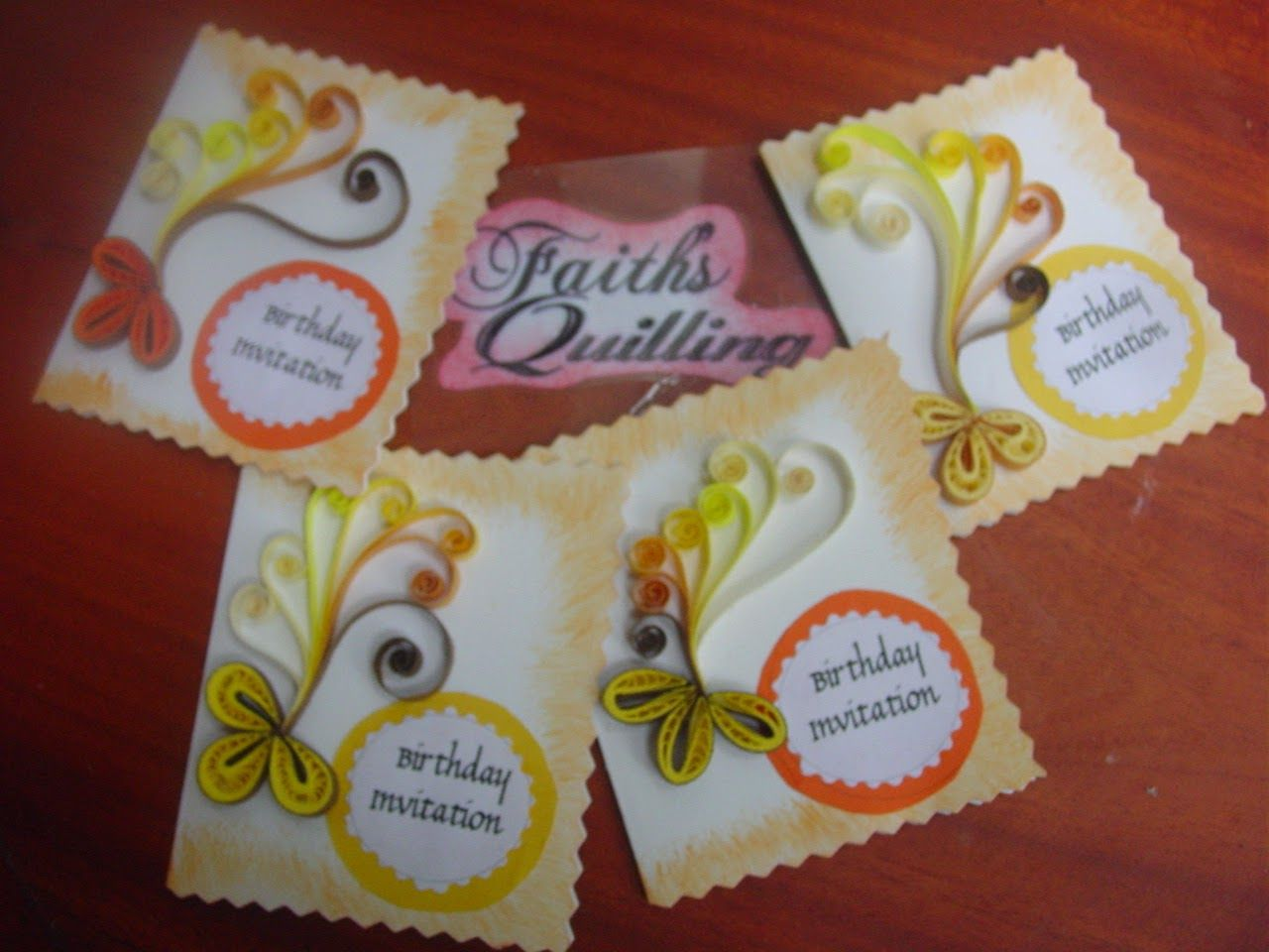 Faiths quilling birthday invitation cards projects to try faiths quilling birthday invitation cards stopboris Choice Image