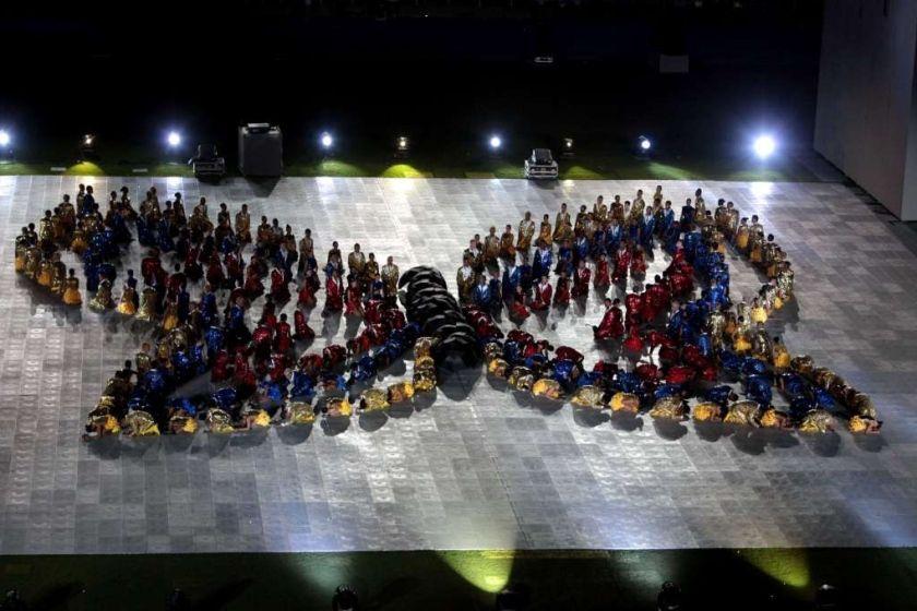 Mariposa creada en la ceremonia inaugural de los Juegos Mundiales Cali 2013.
