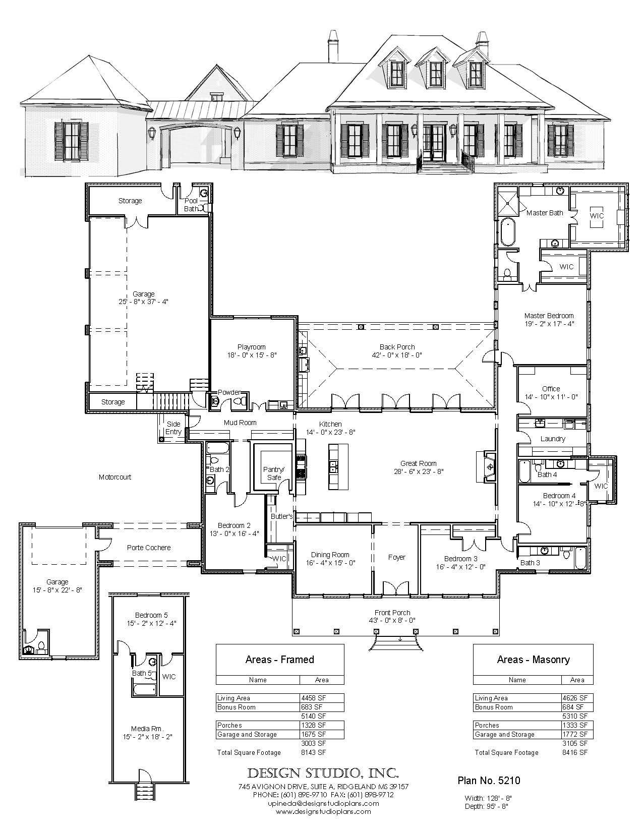 Plan 5210 Design Studio Southern House Plans House Layout Plans House Plans Mansion