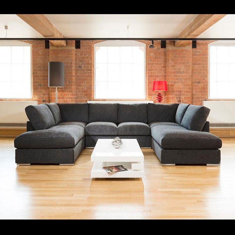 Quatropi Large Sofa Set Settee Corner Group U Shape Black 3 3 X 2 1m Quatropi U Shaped Sofa U Shaped Corner Sofa Sofa Set