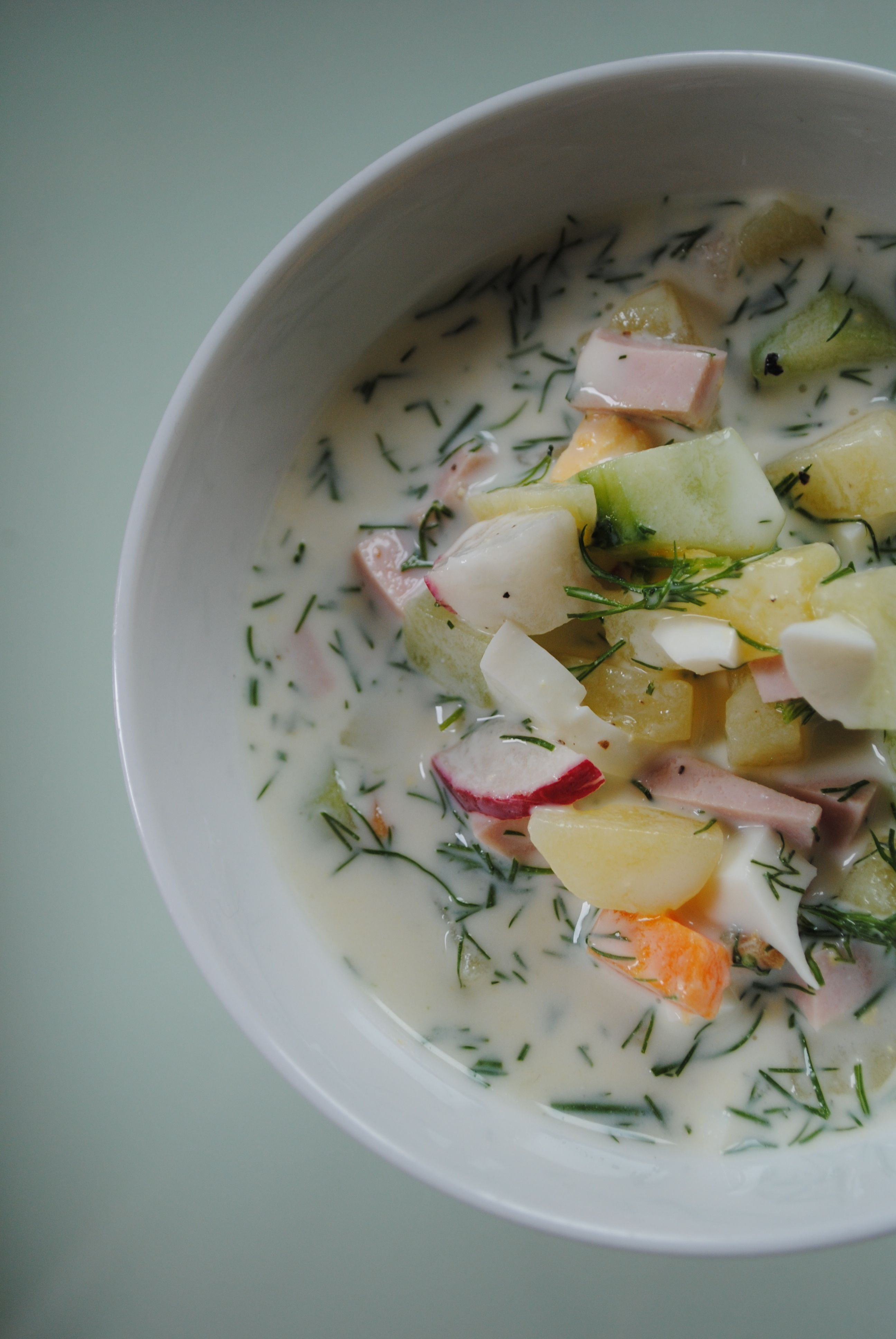 delicious summer soup okroschka #okroschkarezept