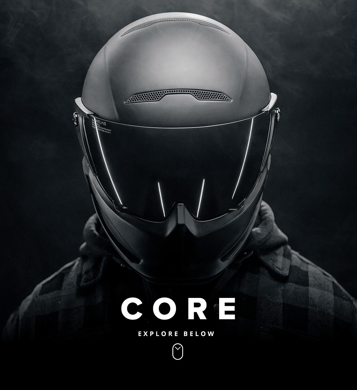 Atlas 1 0 Core Helmet Motorcycle Helmets Motorcycle Helmet Design
