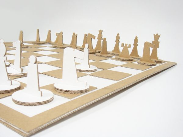Reduce Reuse Recycle Cardboard Chess Set Things And