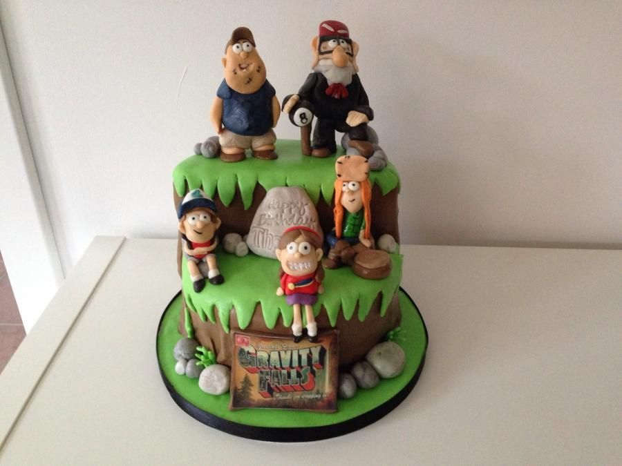 Gravity Falls themed cake Cake by Donna Campbell cakes
