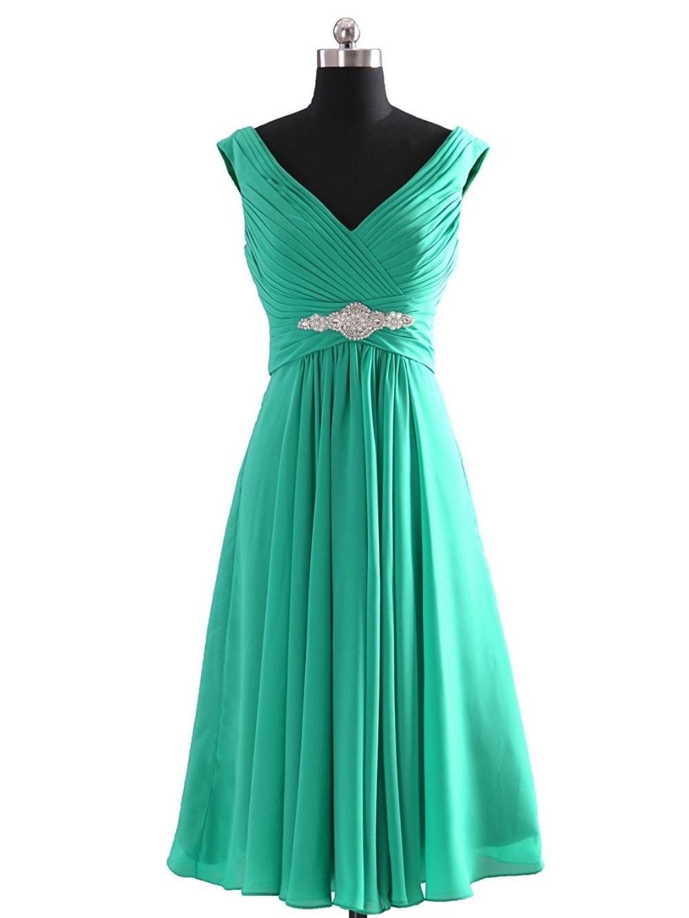 Bridesmaid dresses short double v neck wedding party dresses vestido