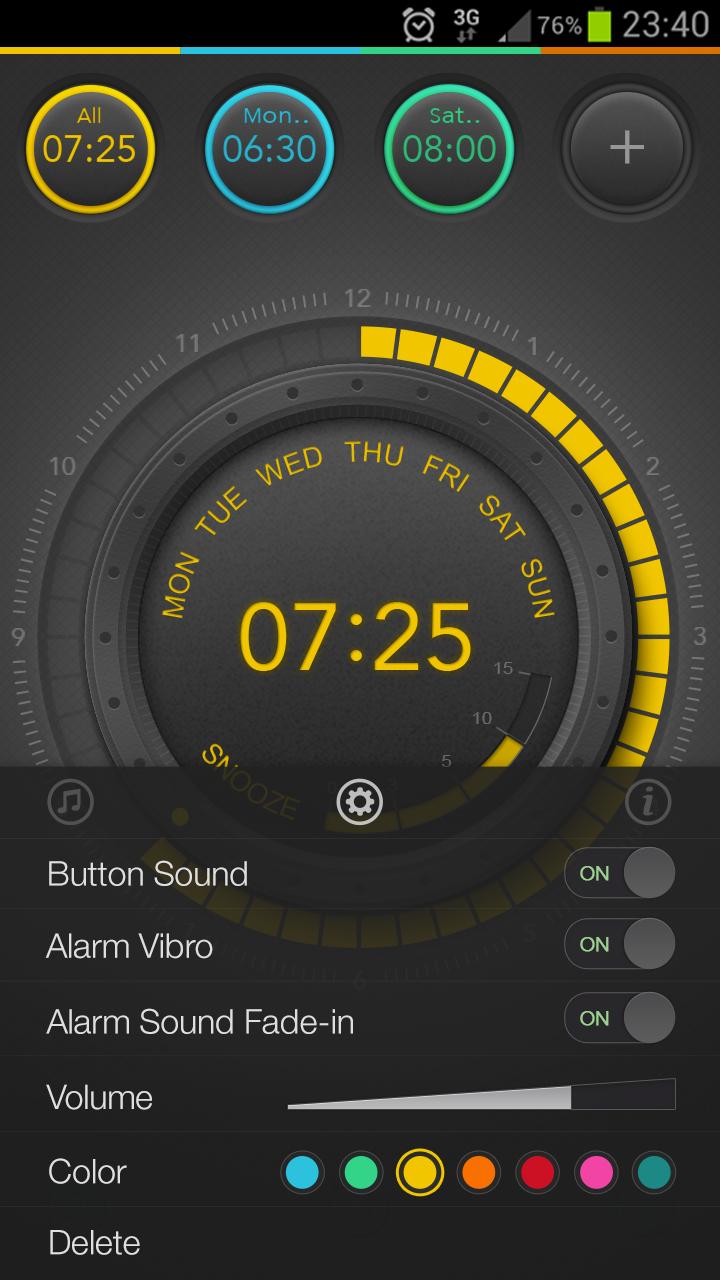 Setting panel   Alarmix Android and iOS alarm clock   Simple alarm