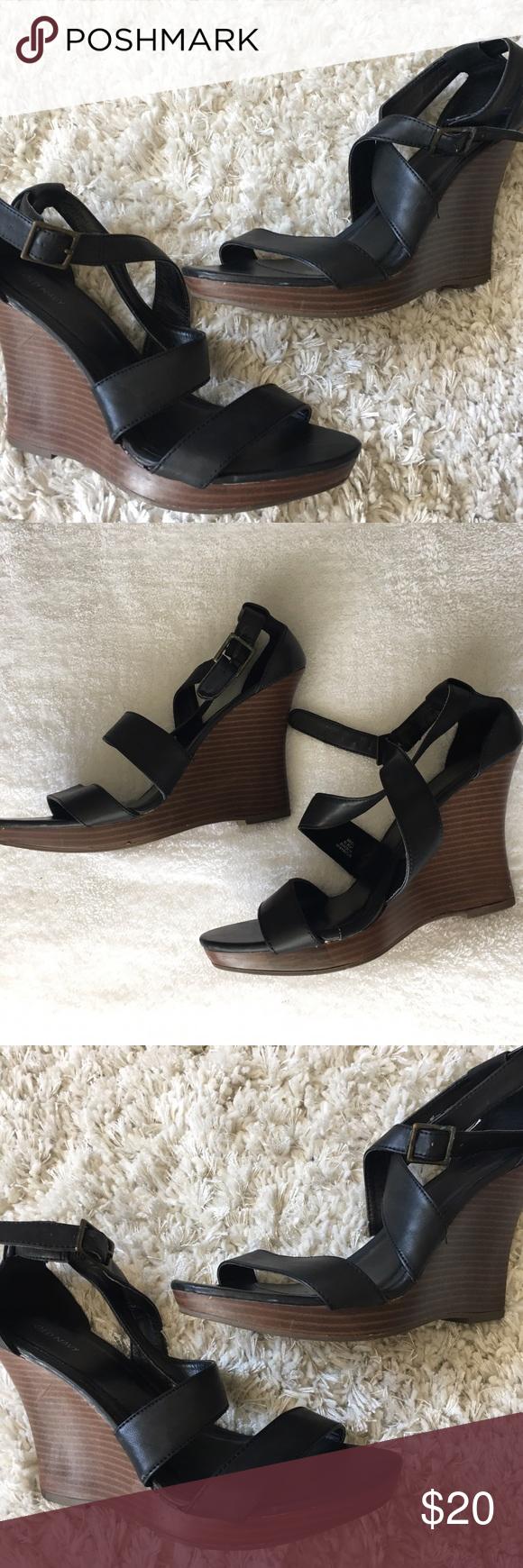 Black sandals old navy - Old Navy Black Sandal Wedges