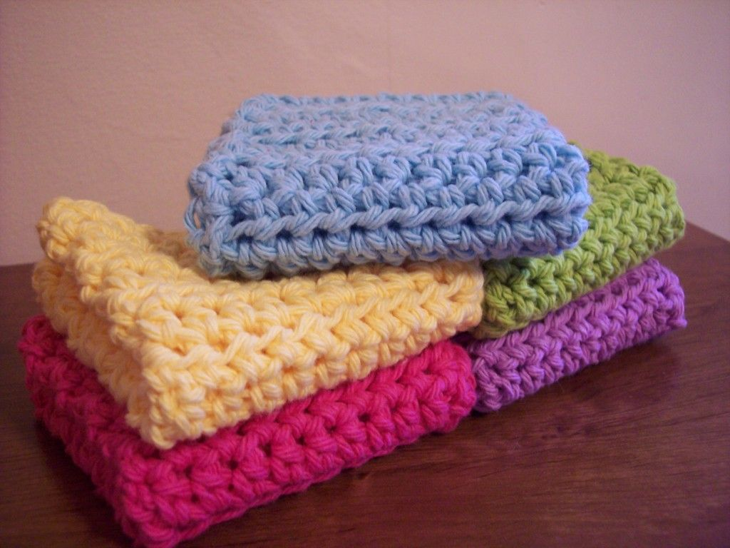 Simple and Practical Crochet Dish Cloth--Easy peezy dishcloth in hdc ...