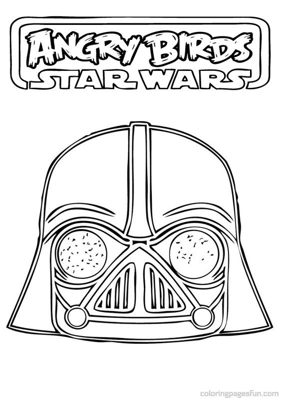 Angry Birds To Color Angry Birds Star Wars Coloring Pages 15