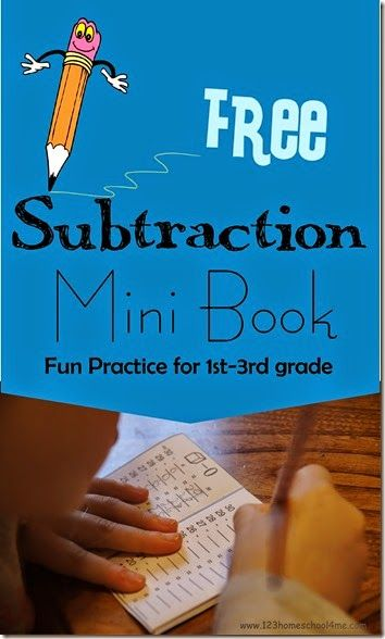 FREE Subtraction Mini Book | Math, Homeschool math and Math worksheets