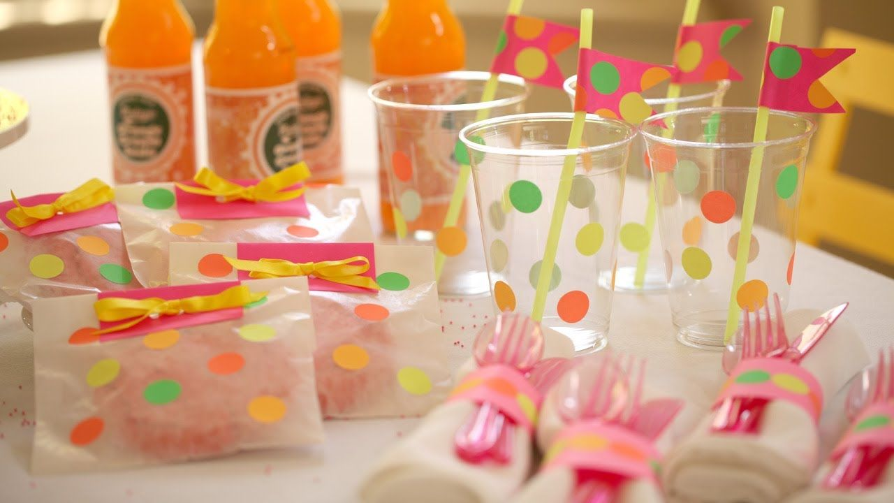 How to Make Neon Party Decor || KIN DIY  www.tablescapesbydesign.com https://www.facebook.com/pages/Tablescapes-By-Design/129811416695