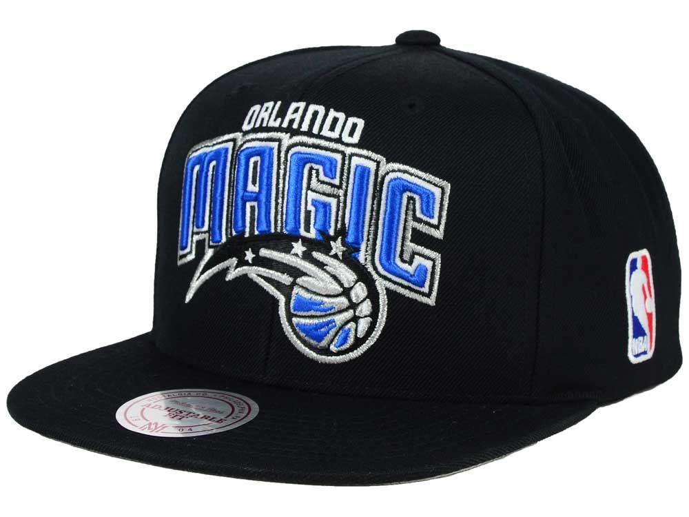 Orlando Magic Mitchell and Ness NBA XL Logo Snapback Cap 8e270a21f9a