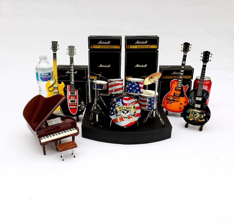 Complete set guns n roses miniature drum set
