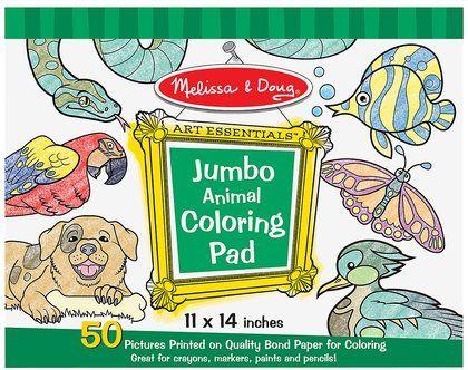 Melissa & Doug Jumbo Animal Coloring Pad, $5 | Kids | Pinterest