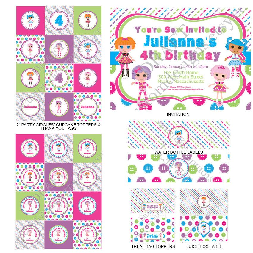 DIY - Printable: Lalaloopsy Birthday Party Set - 14 items ...