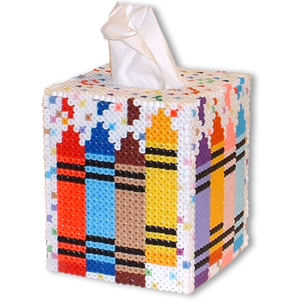medium resolution of crayon tissue box perler beads