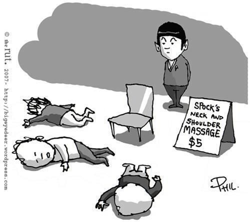 Live long and prosper...with massages