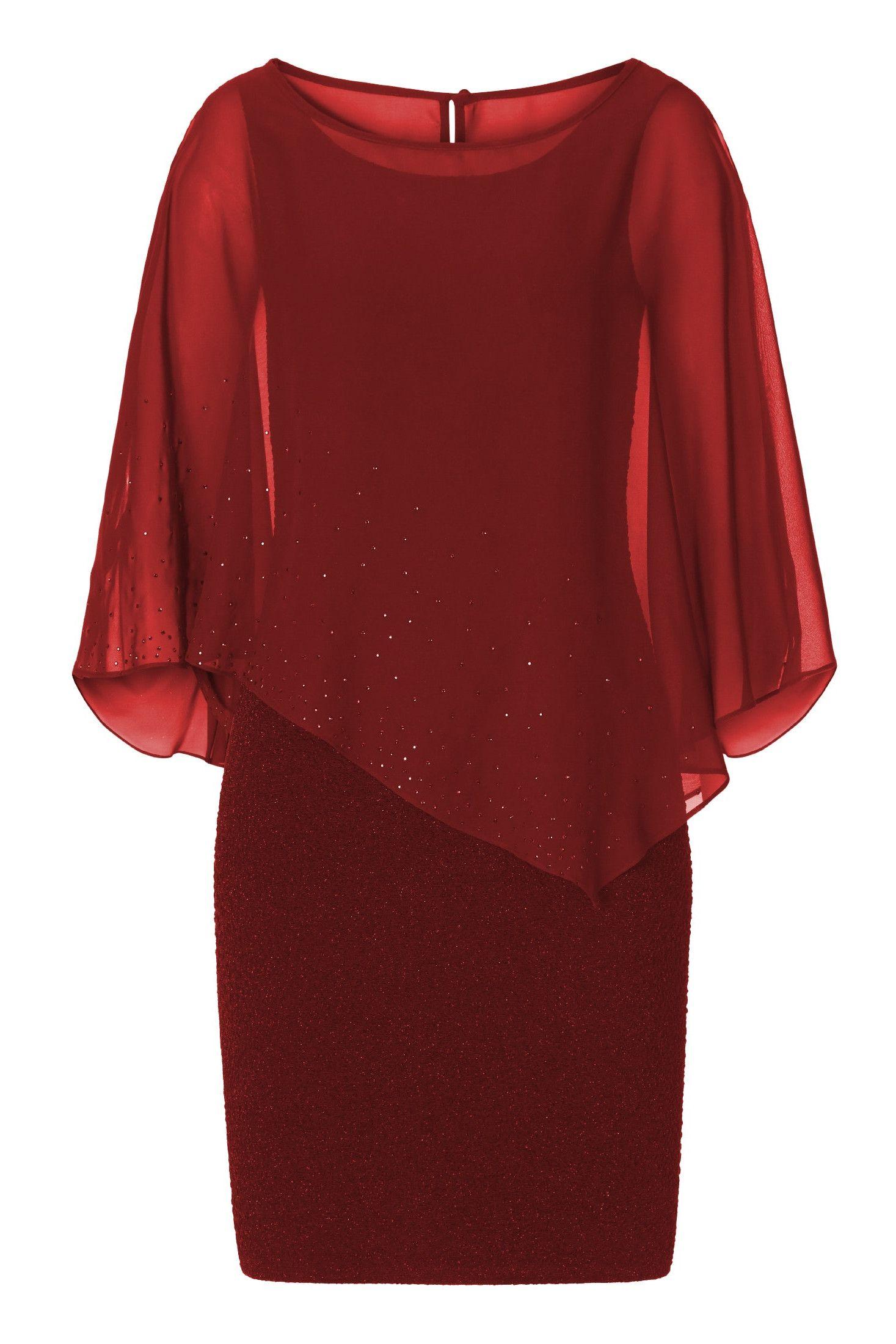 Brautmutter Kleider wie dieses rote Lurexkleid mit ...