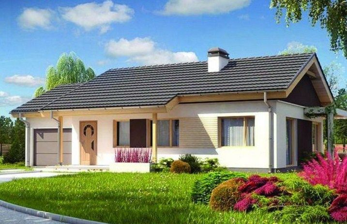 Fachadas de casas con tejas azules fachadas pinterest for Casas con techo de teja
